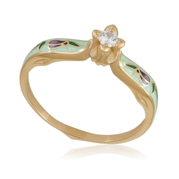 61 138 2z 600x600 - Перстень «Примавера», (золочение, мятное)