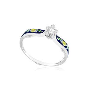 61 138 3s 1 300x300 - Перстень из серебра «Примавера», синее с фианитами