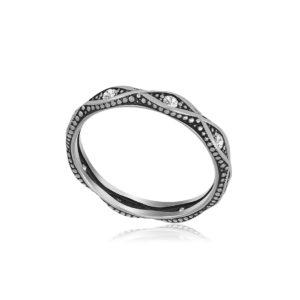61 152s 1 300x300 - Кольцо из серебра «Античное» с фианитами