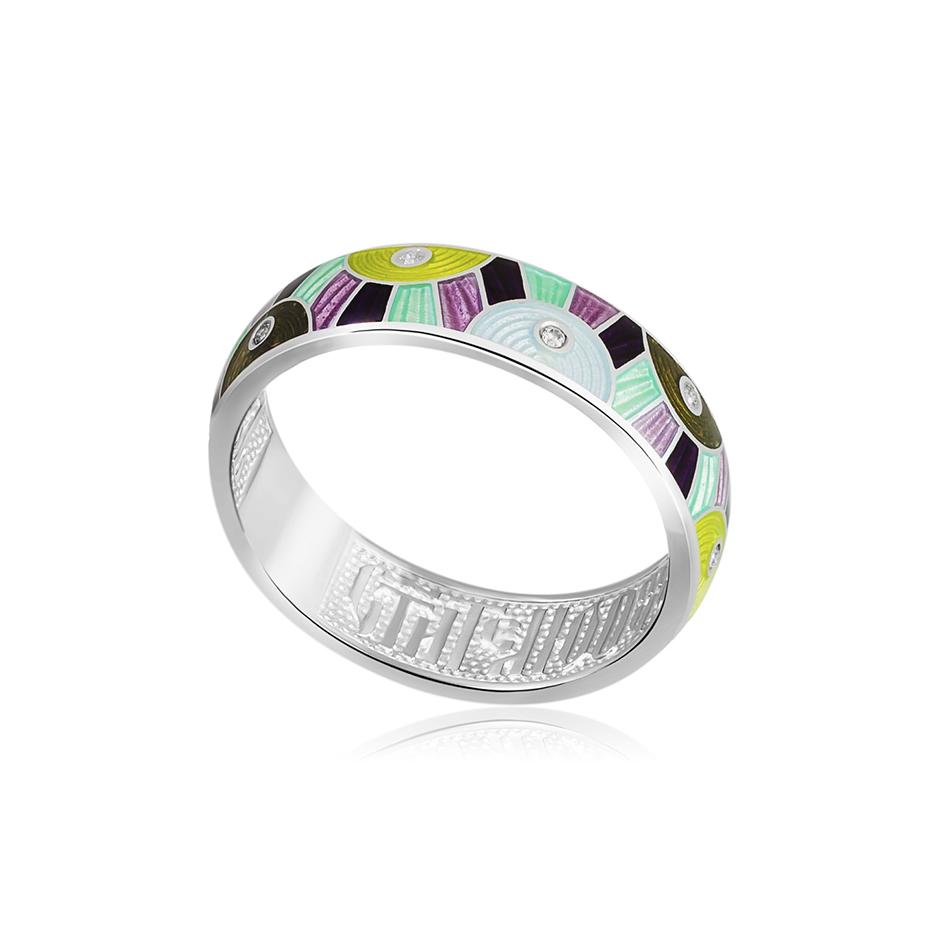 61 162 4s 1 - Кольцо из серебра «Эрте», разноцветная с фианитами