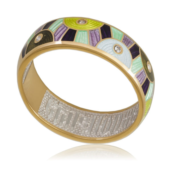 61 162 4z 600x600 - Кольцо «Эрте» (золочение, разноцветная)