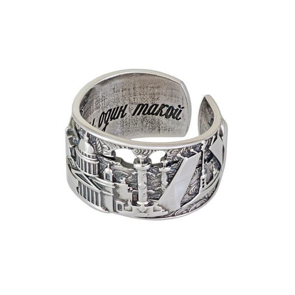 61 170 latun 1 600x600 - Кольцо из серебра из латуни «Весь Петербург»