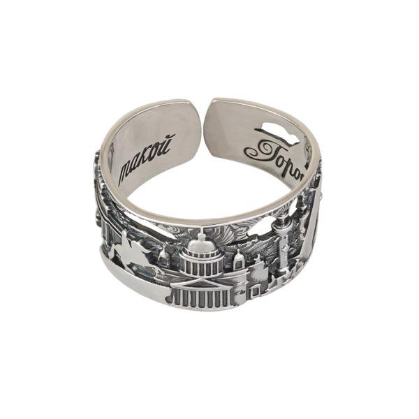 61 170s 1 600x600 - Кольцо из серебра «Весь Петербург»