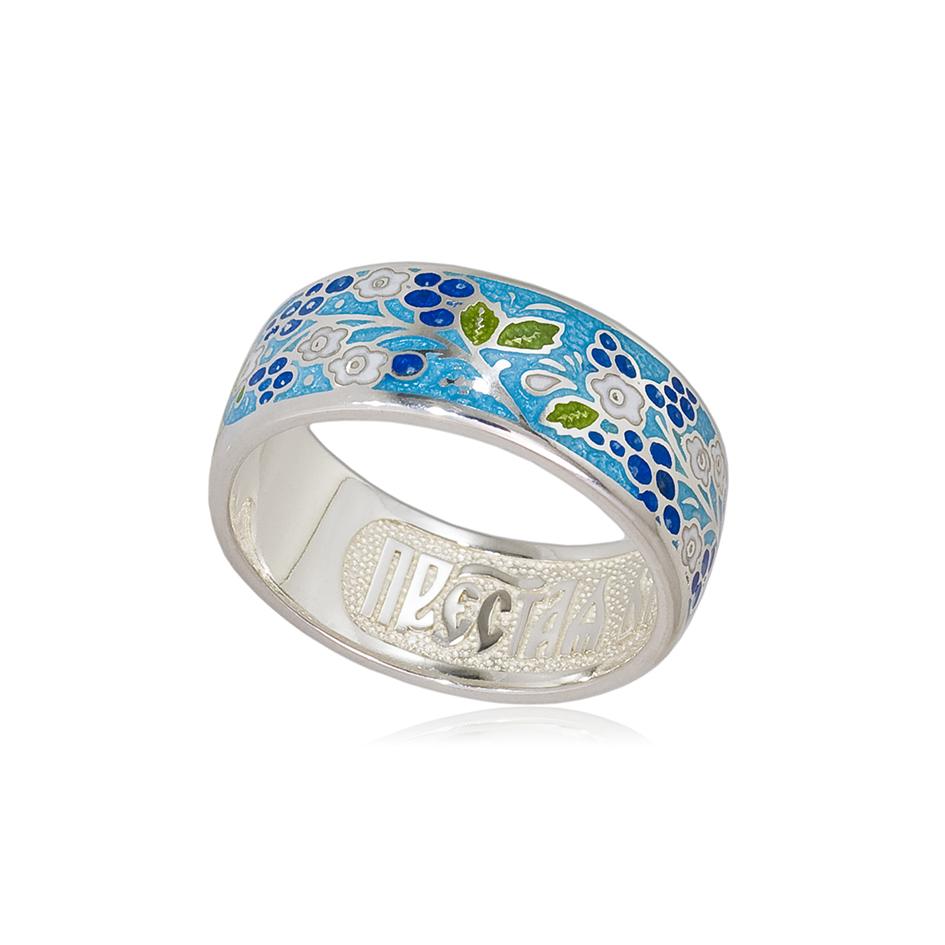 6 01 1s 1 - Кольцо серебряное «Смородинка», голубое