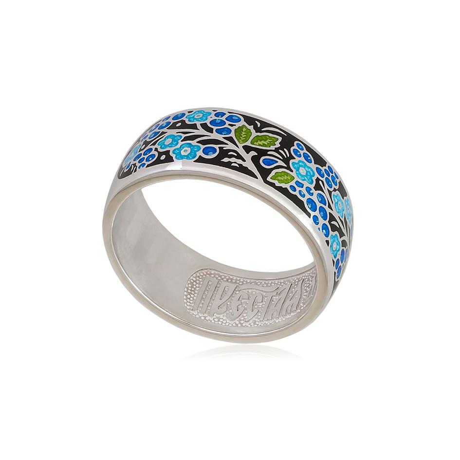 6 01 4s 1 - Кольцо серебряное «Смородинка», черное