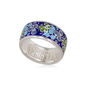 6 02 1s 1 1 300x300 - Кольцо из серебра «Клубника», синяя
