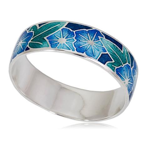 6 04 2s - Кольцо «Петуния», голубая