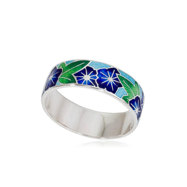 6 04 3s 1 600x600 - Кольцо из серебра «Петуния», синяя