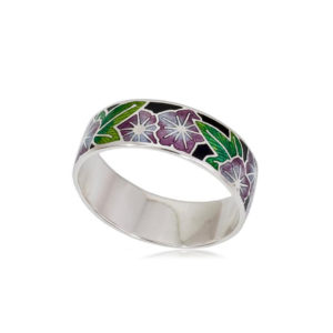 6 04 4s 1 300x300 - Кольцо из серебра «Петуния», фиолетовое