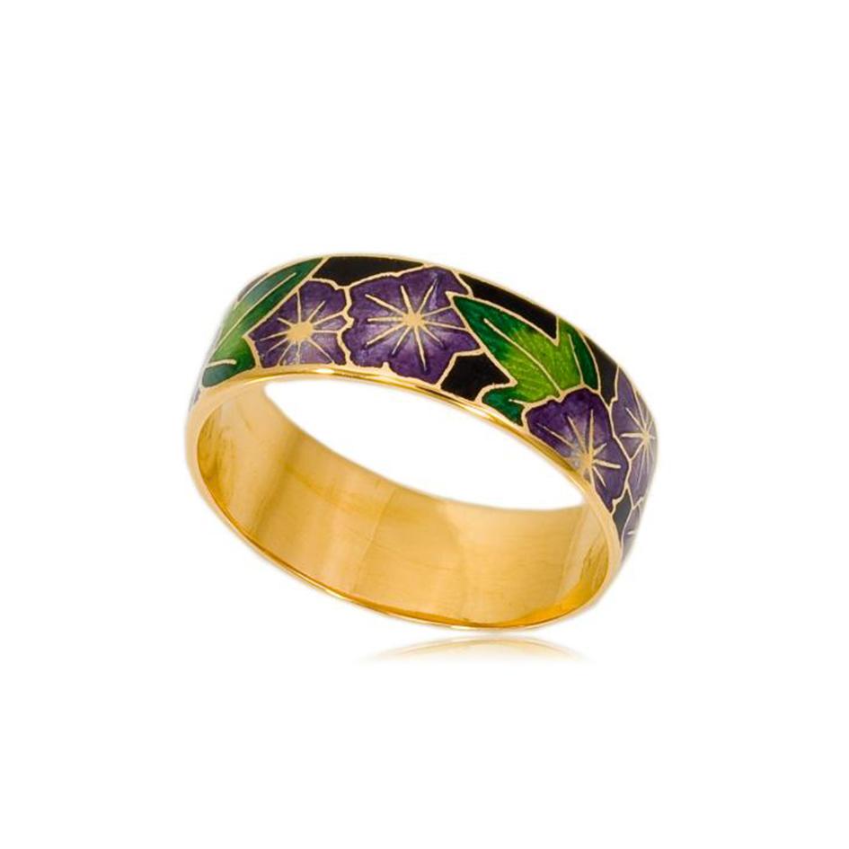 6 04 4z 2 1 - Кольцо «Петуния» (золочение), фиолетовое