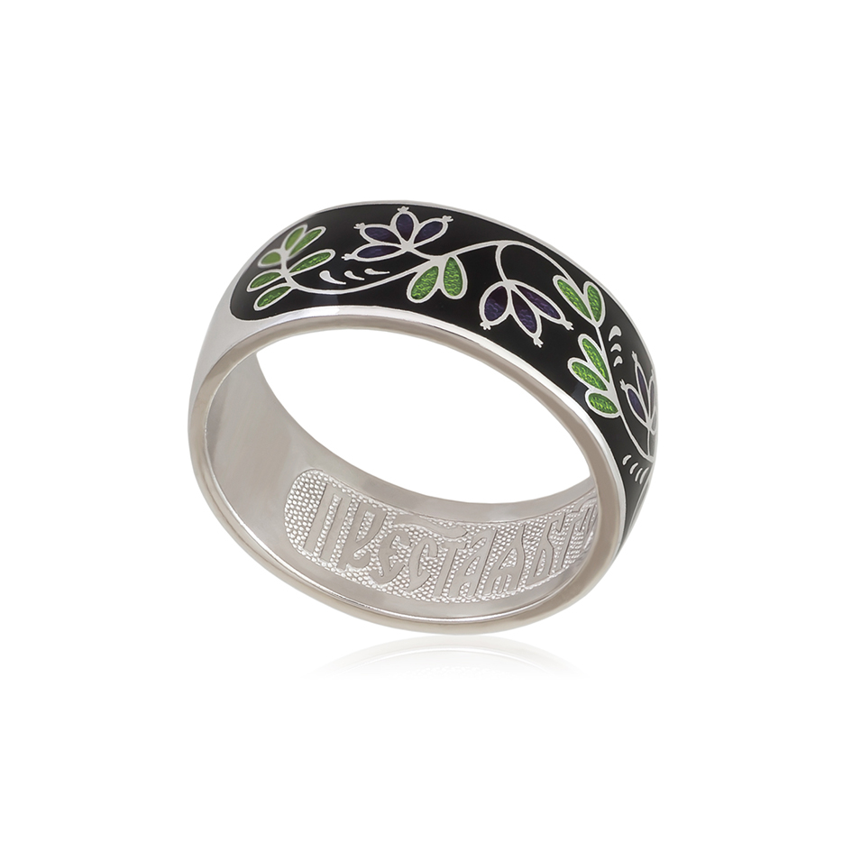 6 05 1s 1 - Кольцо из серебра «Барбарис», черное