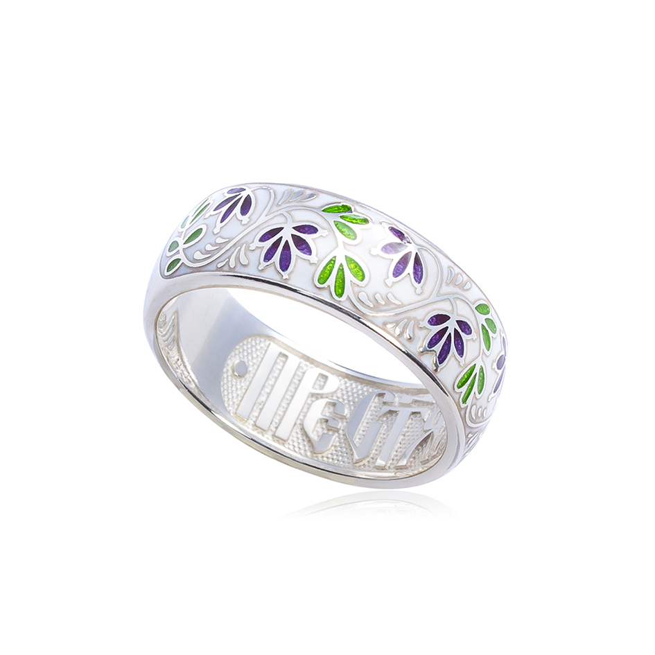 6 05 2s 1 1 - Кольцо «Барбарис», бело-фиолетовое
