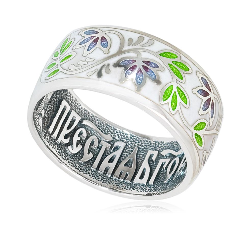 6 05 2s - Кольцо «Барбарис», бело-фиолетовая