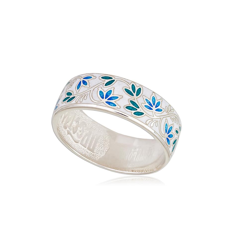 6 05 3s  1 - Кольцо из серебра «Барбарис», бело-синее