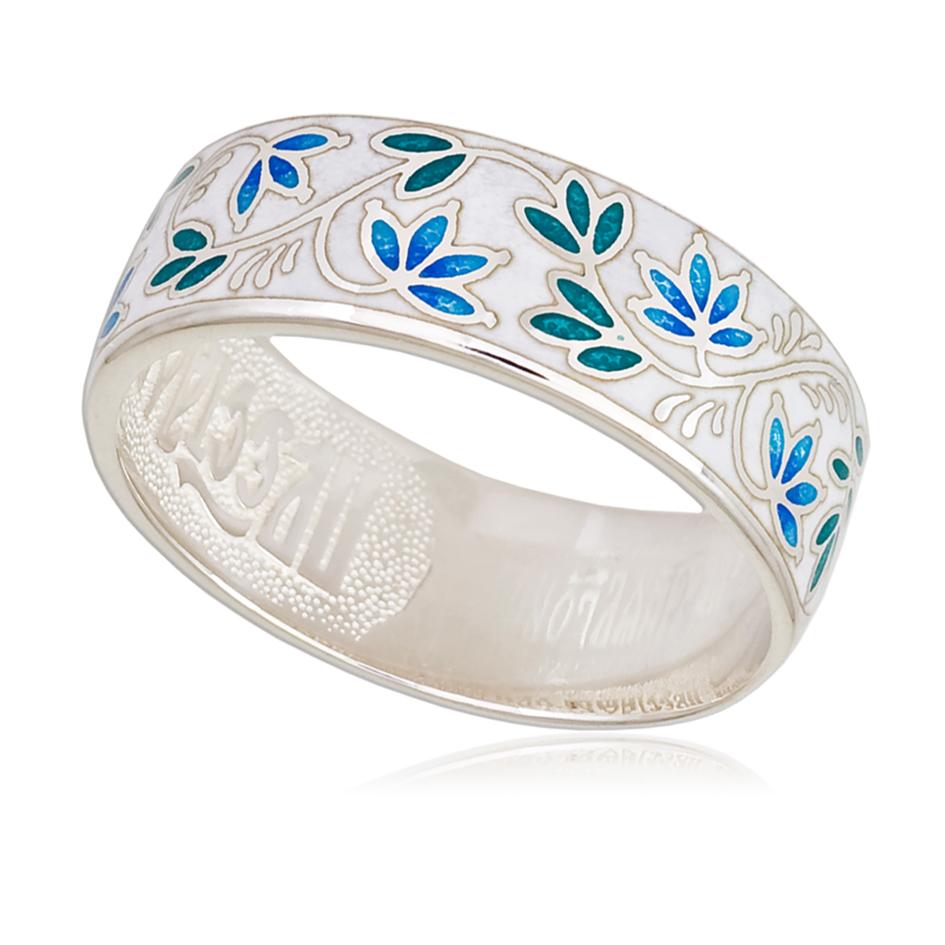 Кольцо «Барбарис», бело-синяя