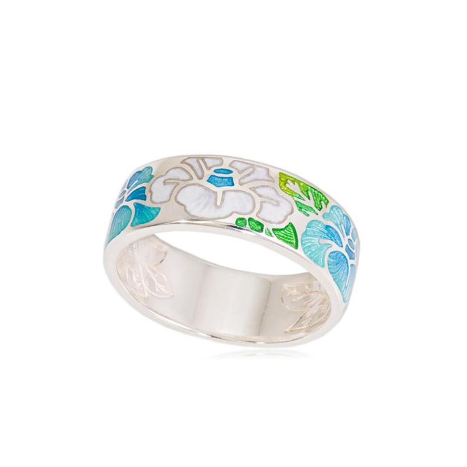 6 06 1s 0 1 - Кольцо «Камелия», бело-голубая