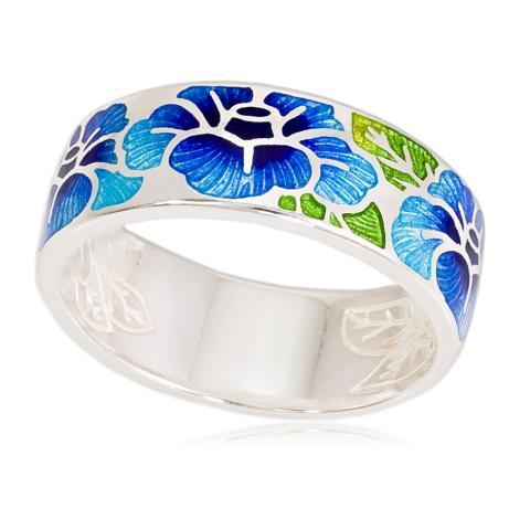 6 06 2s - Кольцо «Камелия», синяя