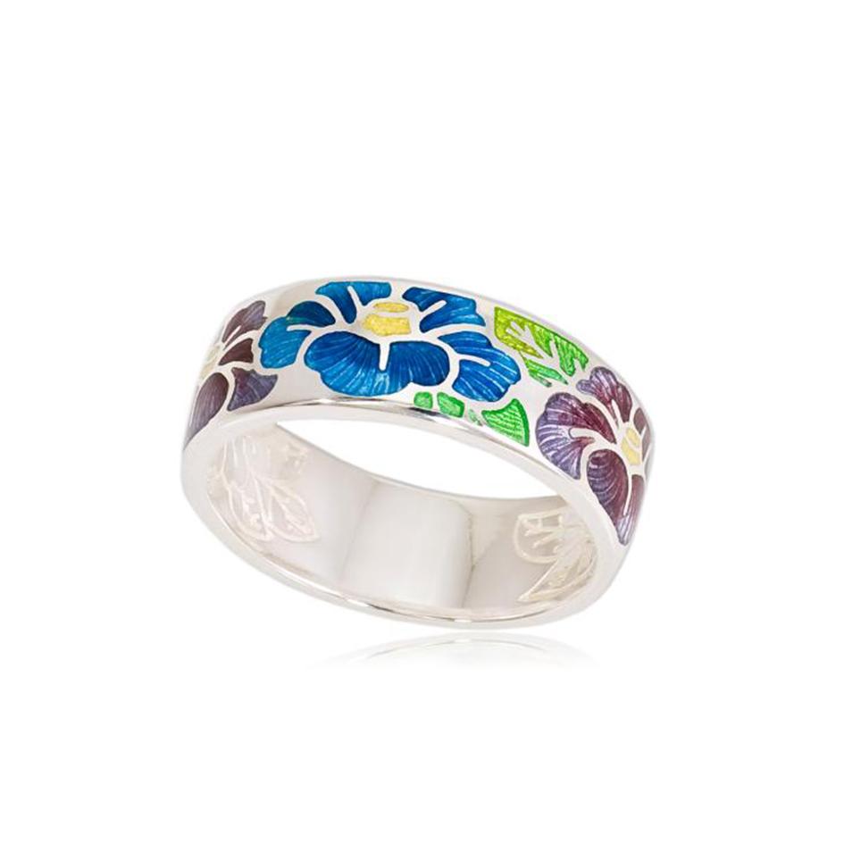 6 06 3s 1 - Кольцо из серебра «Камелия», сине-фиолетовое