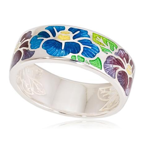 Кольцо «Камелия», сине-фиолетовая