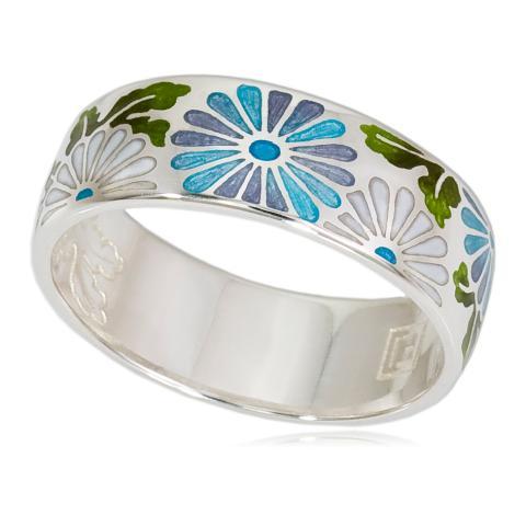Кольцо «Георгины», бирюзовое