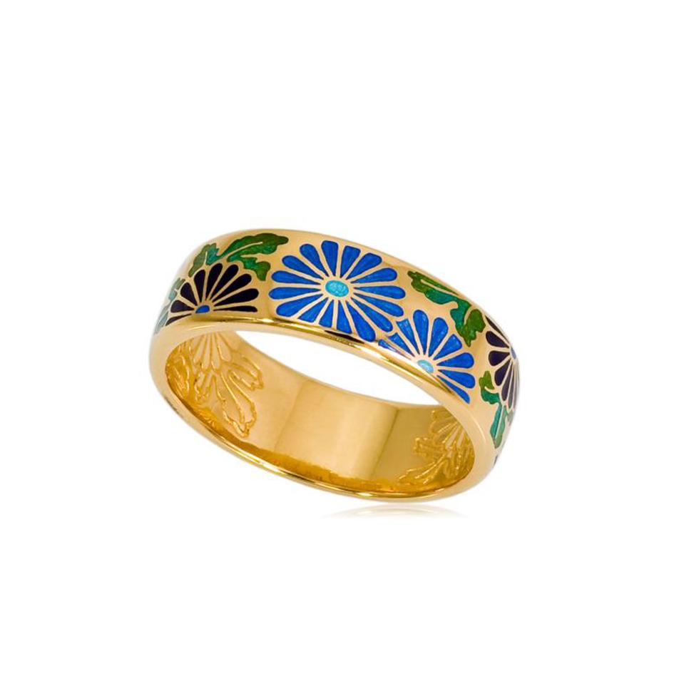 6 09 4z 4 - Кольцо «Георгины» (золочение), синее