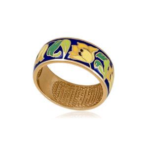 6 136 1s 1 300x300 - Кольцо из серебра «Тюльпаны» (золочение), желтое