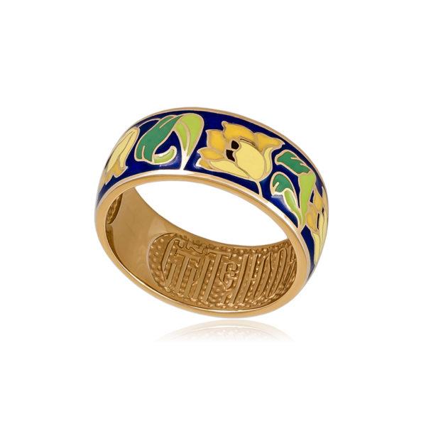 6 136 1s 1 600x600 - Кольцо из серебра «Тюльпаны» (золочение), желтое