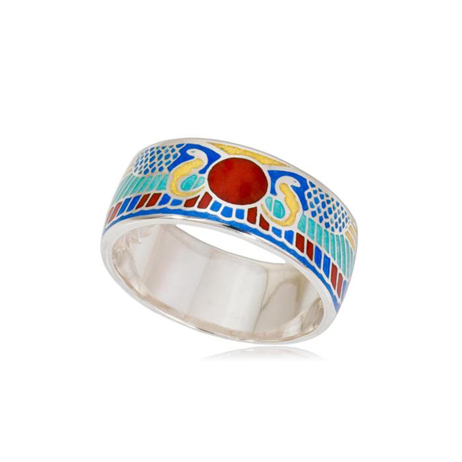 6 22 2s 4 - Кольцо из серебра «Фараон», красное