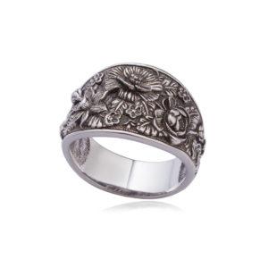 6 23 1s 300x300 - Кольцо из серебра «Жостово»