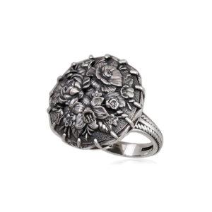 6 24 persten 1 1 300x300 - Перстень из серебра «Букет», терракотовый