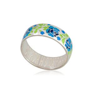 6 25 2s 4 300x300 - Кольцо из серебра «Розы», синее