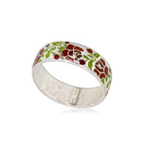 6 25 4s  4 300x300 - Кольцо из серебра «Розы», красная