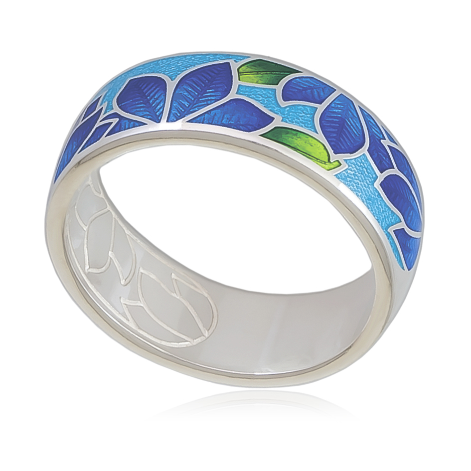 6 27 2s 1 - Кольцо «Клематис», сине-голубое