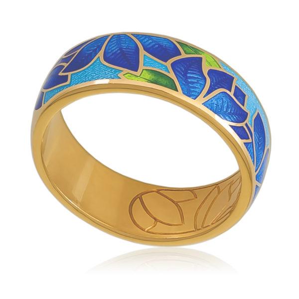 6 27 2z 1 600x600 - Кольцо «Клематис» (золочение), сине-голубое