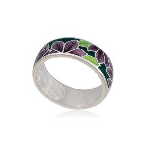 6 27 3s 1 1 300x300 - Кольцо из серебра «Клематис», фиолетово-зеленое