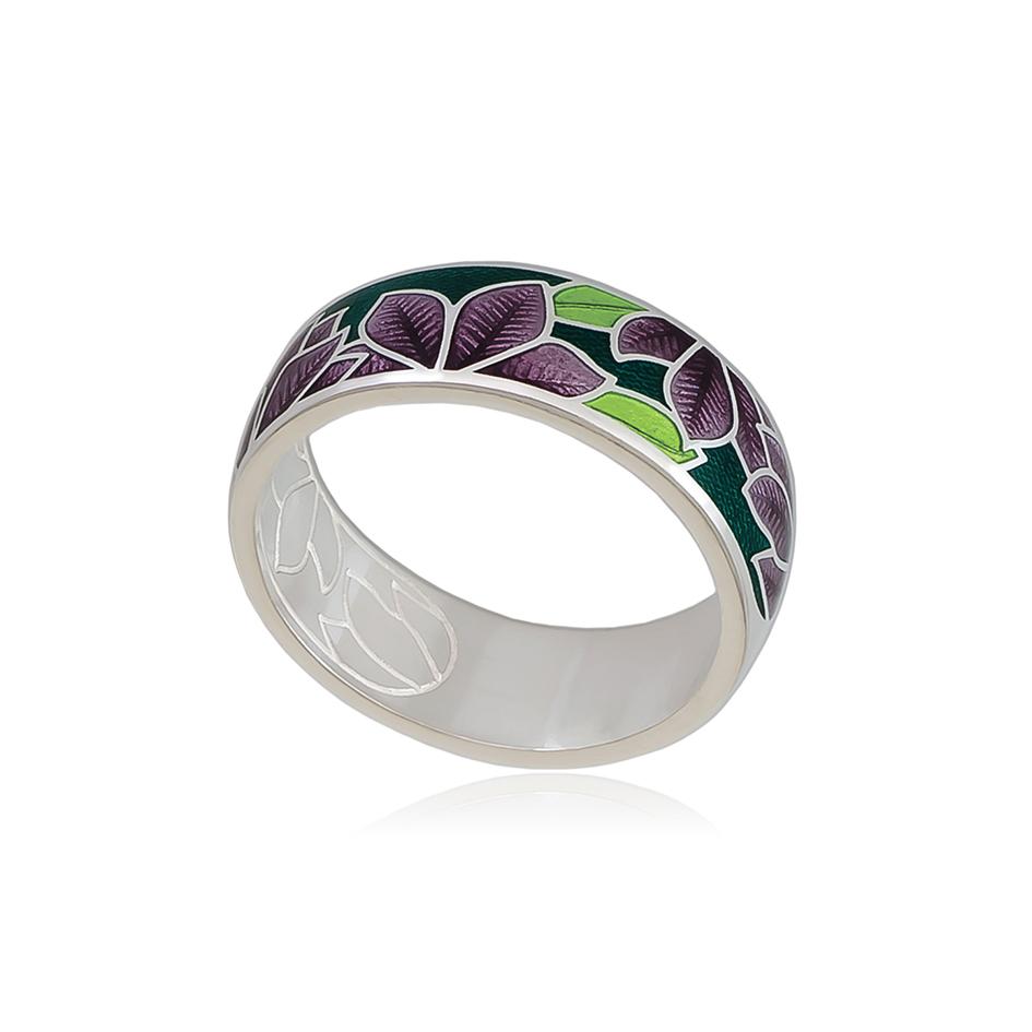 6 27 3s 1 1 - Кольцо «Клематис», фиолетово-зеленое