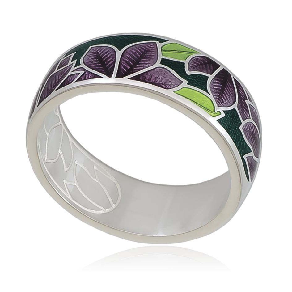 6 27 3s 1 - Кольцо «Клематис», фиолетово-зеленое