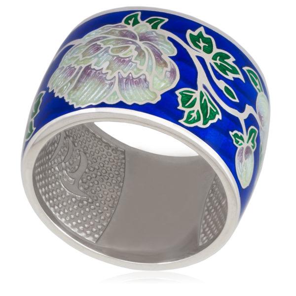6 29 1s 600x600 - Кольцо из серии Веера «Пион», синяя