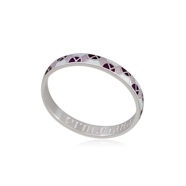 6 30 3s 3 1 600x600 - Кольцо из серебра «Седмица», фиолетово-белое