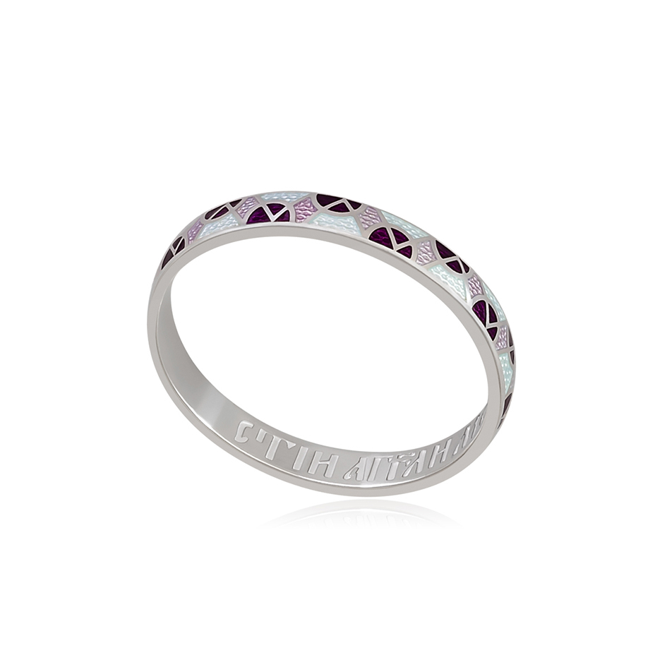 6 30 3s 3 1 - Кольцо из серебра «Седмица», фиолетово-белое