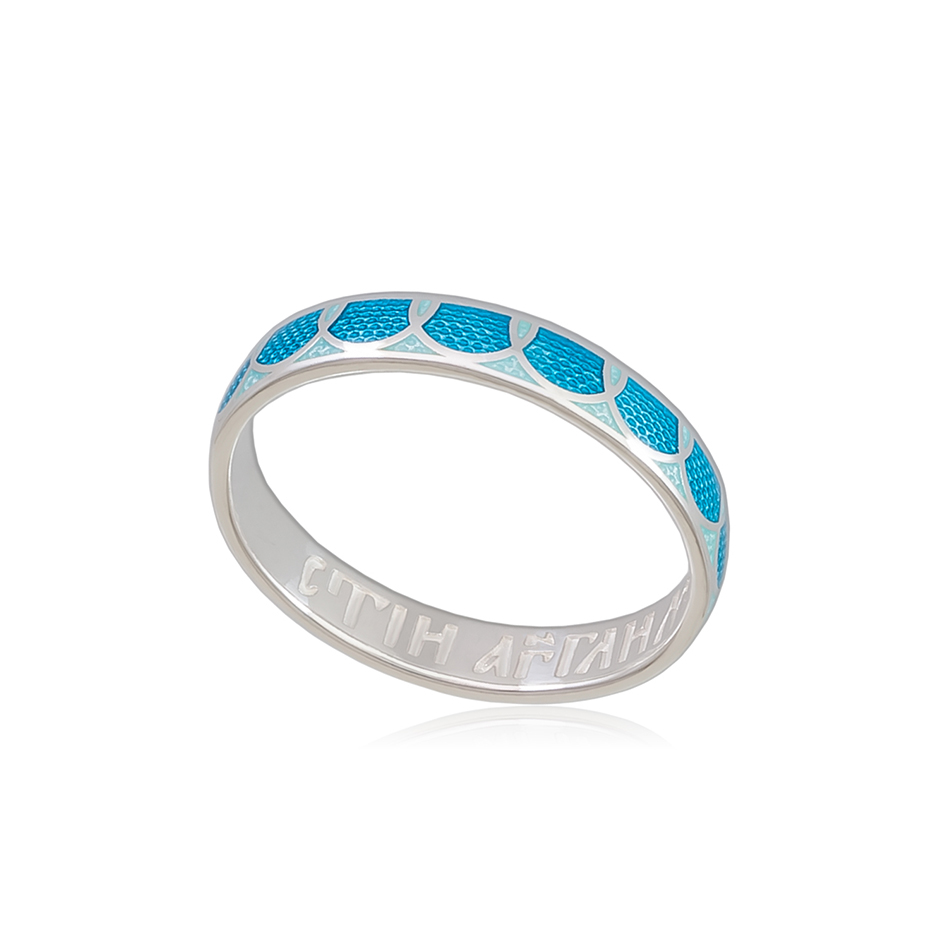 6 31 1s 1 - Кольцо из серебра «Седмица», голубая