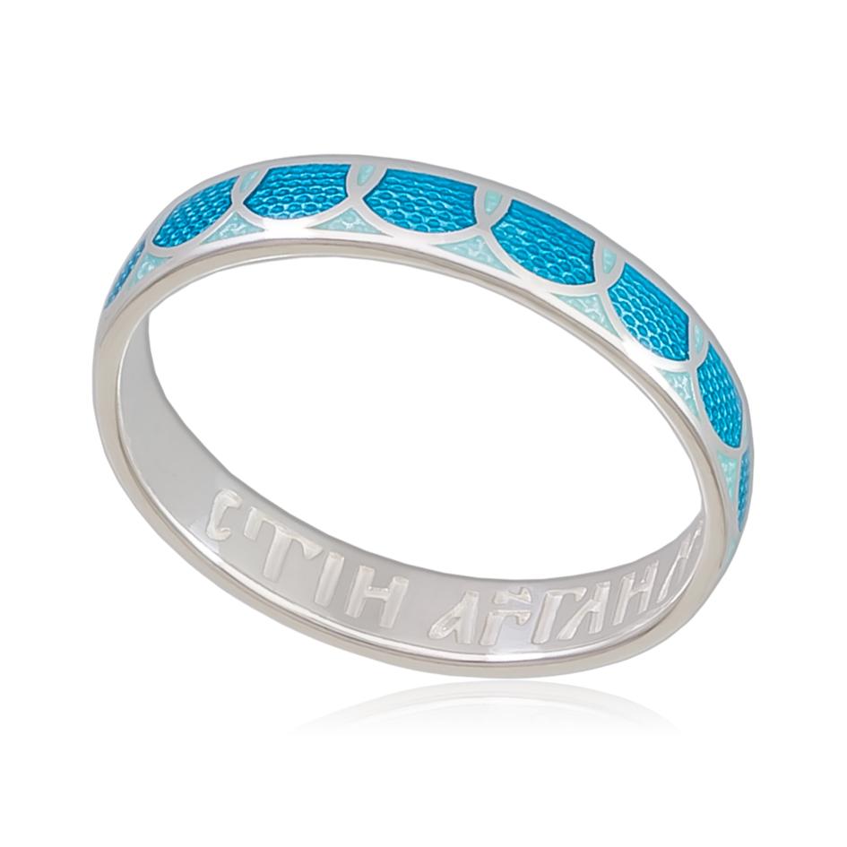 6 31 1s - Кольцо «Седмица», голубая