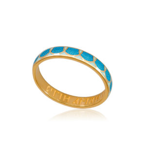 6 31 1z 1 300x300 - Кольцо из серебра «Седмица» (золочение), голубое