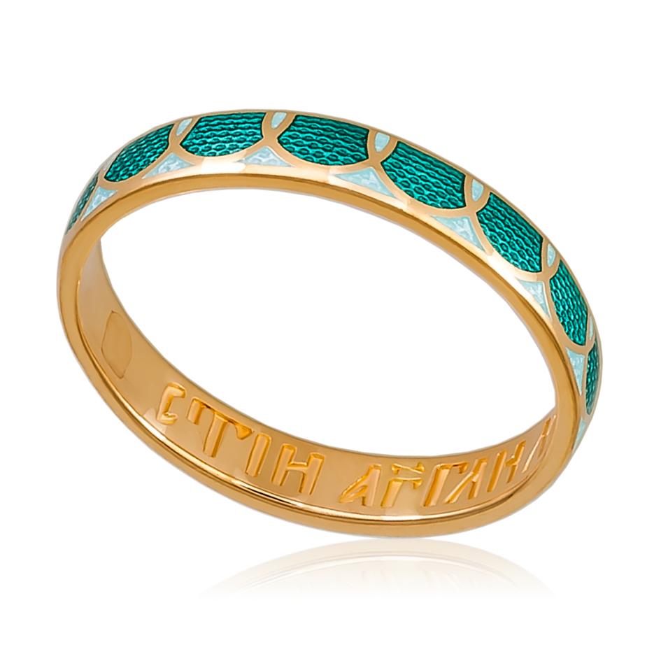 6 31 2z - Кольцо «Седмица» (золочение), зеленое