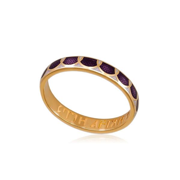 6 31 3z 1 1 600x600 - Кольцо из серебра «Седмица» (золочение), фиолетовое