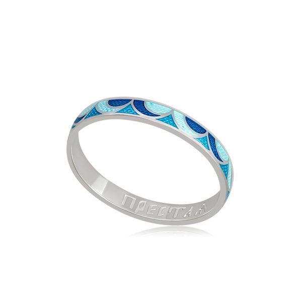 6 32 1s 1 600x600 - Кольцо из серебра «Седмица», сине-голубое