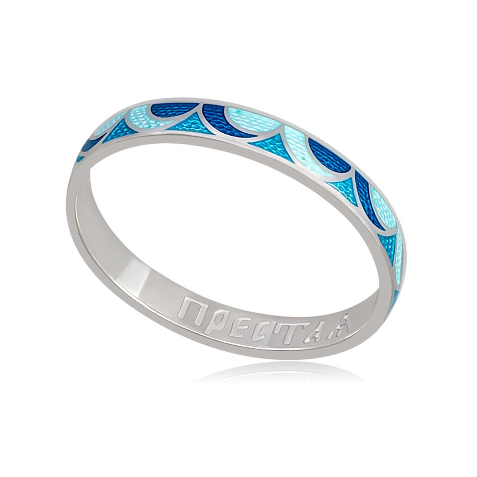 6 32 1s - Кольцо «Седмица», сине-голубое