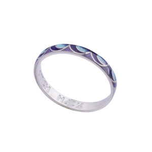 6 32 2s n 300x300 - Кольцо из серебра «Седмица», сине-фиолетовое