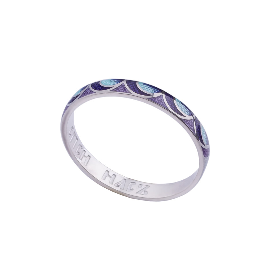 6 32 2s n - Кольцо из серебра «Седмица», сине-фиолетовое