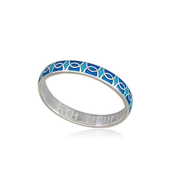 6 33 2s 1 600x600 - Кольцо из серебра «Седмица», голубая